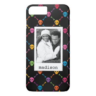 Photo faite sur commande et motif multicolore coque iPhone 7 plus