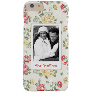Photo faite sur commande et roses roses élégants coque barely there iPhone 6 plus