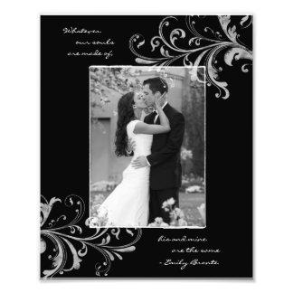 Photo florale blanche noire de portrait