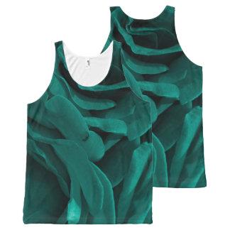 Photo florale de roses veloutés bleu-vert débardeur tout-imprimé