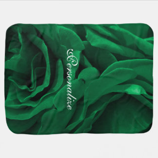 Photo florale de roses veloutés riches de vert couverture de bébé