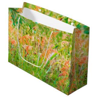 Photo florale de scène d'après-midi grand sac cadeau