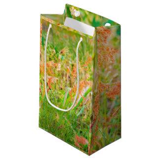 Photo florale de scène d'après-midi petit sac cadeau
