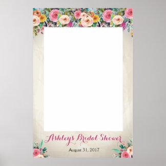 Photo florale Prob de douche Poster