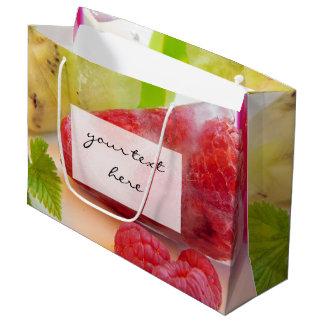 photo fruitée de lucette de glace de framboise grand sac cadeau