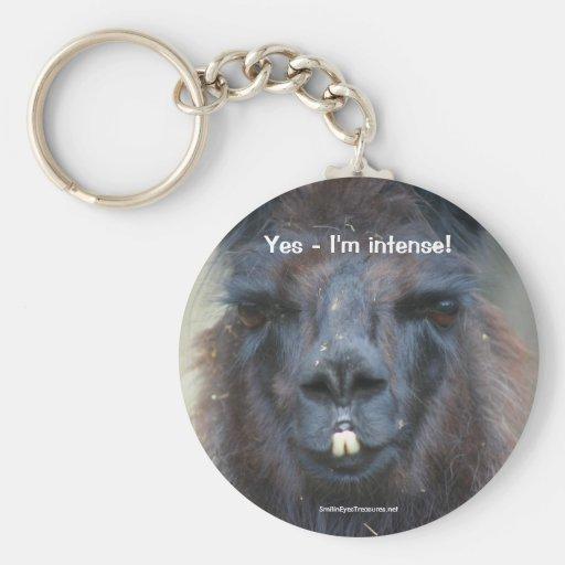 Photo humoristique Keychain de nature animale de l Porte-clé Rond
