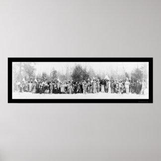 Photo Iroquois 1914 d Indiens Affiche