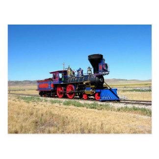 Photo locomotive de train de machine à vapeur carte postale