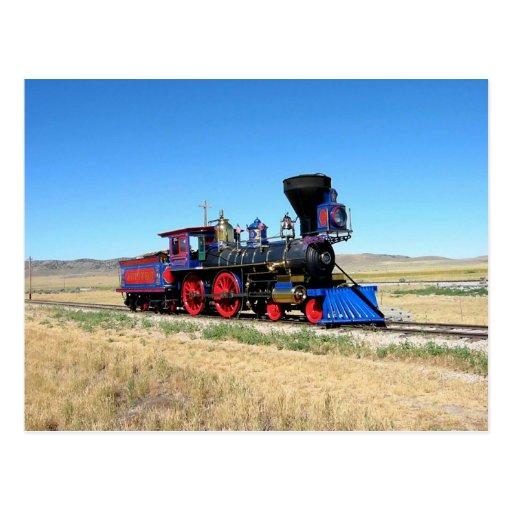 Photo locomotive de train de machine à vapeur cartes postales
