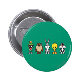 Photo LOONEY de groupe de TUNES™ op Badge Rond 5 Cm