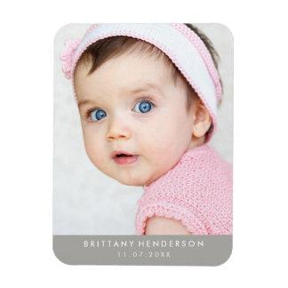 Photo moderne de bébé magnets rectangulaire