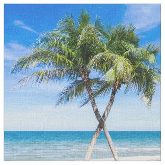 Photo moderne de palmier de plage tropicale d'été tissu