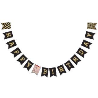 Bannière À Fanions Photo moderne de scintillement d'or et bannière de