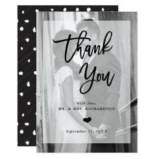 Photo moderne du Merci | de mariage avec le Carton D'invitation 12,7 Cm X 17,78 Cm