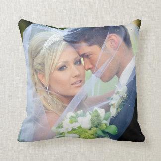 Photo  Monogram Names Wedding Keepsake Pillow