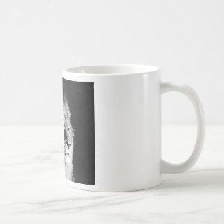 Photo noire et blanche de lion mug blanc