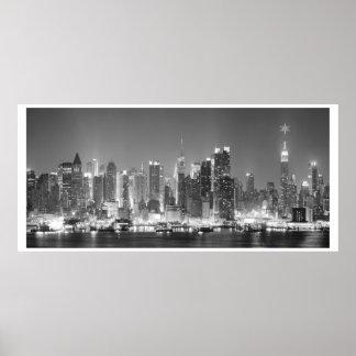 Photo noire et blanche de New York City Poster