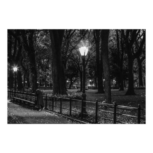 Photo noire et blanche de paysage de Central Park