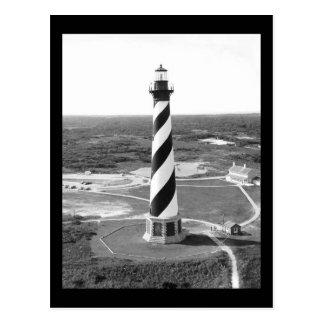 Photo noire et blanche de phare du Cap Hatteras Cartes Postales