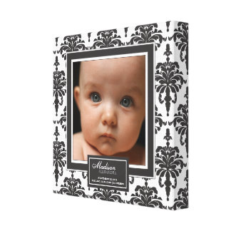 Photo noire et blanche élégante de naissance de bé toile tendue