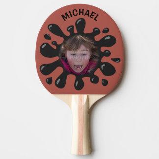 Photo nommée faite sur commande d'éclaboussure de raquette tennis de table