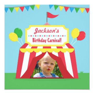 Photo orientée de partie d'anniversaire de enfant carton d'invitation  13,33 cm