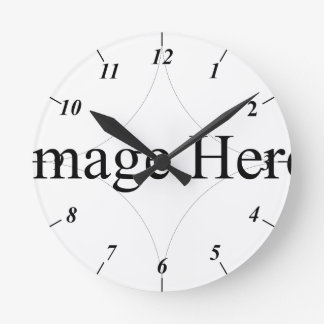Photo personnalisable, horloge murale moyenne