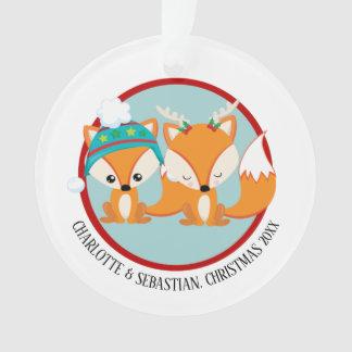 Photo personnalisée rouge de Fox de Noël