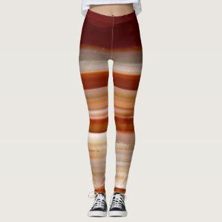 Photo polie de tranche d'agate leggings