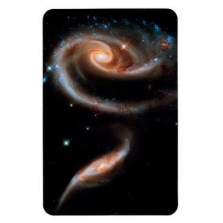 Photo rose d'espace extra-atmosphérique de Hubble Magnet Flexible