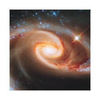 Photo rose d'espace extra-atmosphérique de Hubble Toiles