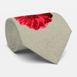 Photo rouge de dahlia de fleur cravate