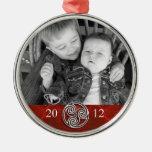 Photo rouge Ornam de Noël de Triskelion de noeud Décorations De Noël