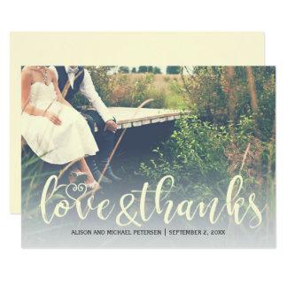 Photo rustique de mariage de pays de Merci Carton D'invitation 12,7 Cm X 17,78 Cm