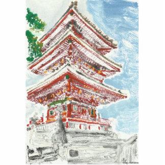 Photo Sculpture Silhouette de photo du Japon 3D de temple de Kyoto