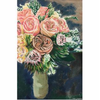 Photo Sculpture Silhouette peinte à la main de photo du bouquet