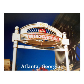 Photo souterraine de carte postale d'Atlanta la