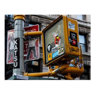 Photo urbaine de rue de New York City Carte Postale