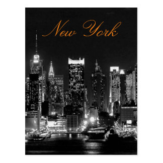 Photo vintage blanche noire de voyage de New York Carte Postale