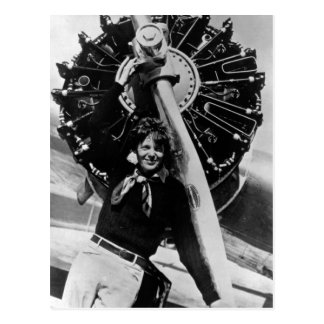 Photo vintage d'Amelia Earhart Carte Postale