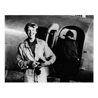 Photo vintage d'Amelia Earhart Carte Postale