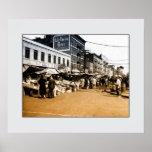 Photo vintage d'art : 1940 marchés italiens, Bronx Posters