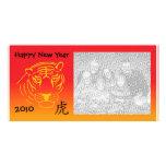 photocard chinois de nouvelle année photocarte customisée
