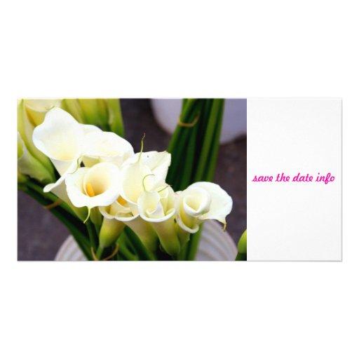 photocard de zantedeschia cartes de vœux avec photo