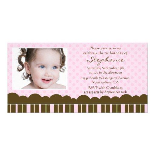 Photocard d'invitation de fête d'anniversaire de l carte avec photo