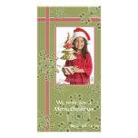 Photocard hoilday de Noël de cadeau de flocon de n Photocartes Personnalisées