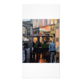 Photocard illustré polychrome de beaux-arts photocartes
