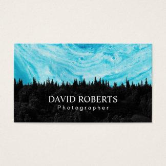 Photographe de forêt d'aquarelle de photographie cartes de visite