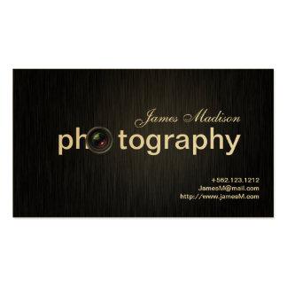 Photographe élégant de professionnel de noir et d modèles de cartes de visite
