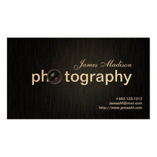 Photographe élégant de professionnel de noir et d' modèles de cartes de visite